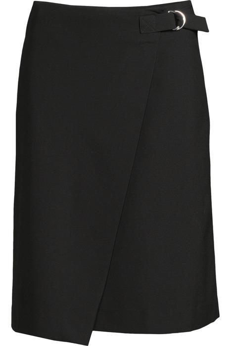 A-line wrap skirt black