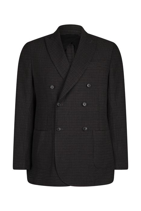 Db patch pocket blaz black dark check