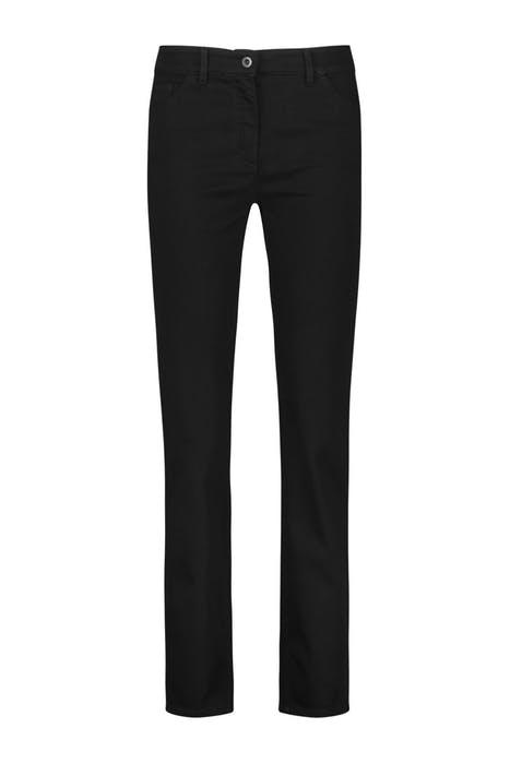Five-pocket petite straight fit jeans black