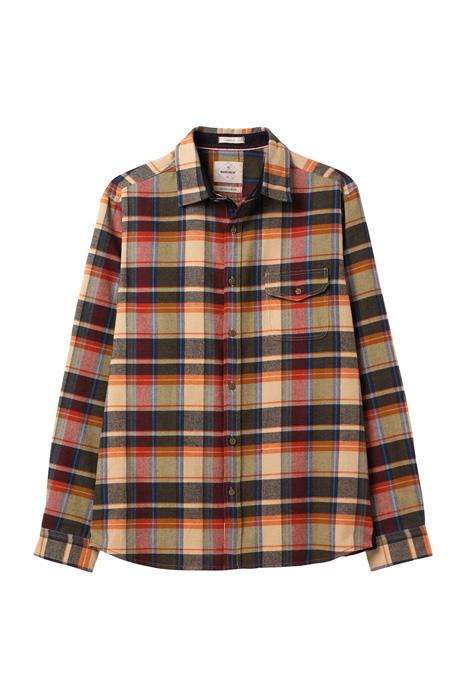 Serpentine flannel check shirt green