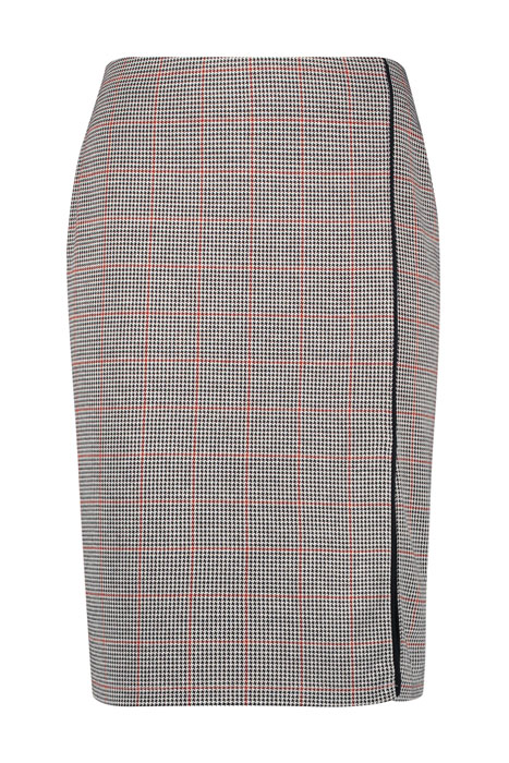 Slim-fitting skirt with a check pattern multicolor