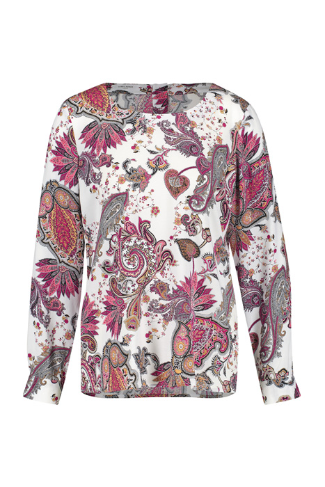 Blouse with a floral paisley print multicolor