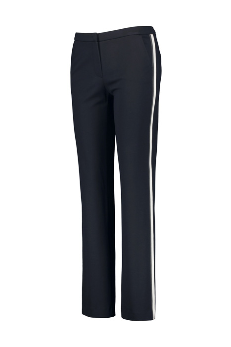 Trousers with tuxedo stripes, classic fit blue